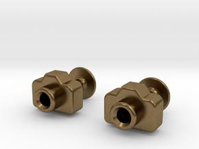 Mini DSLR Camera - Cufflinks in Natural Bronze