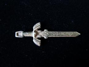 Master Sword in Polished Bronzed Silver Steel