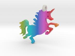 Rainbow Unicorn! in Full Color Sandstone