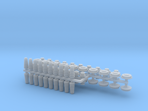 1:48 Utility Pole Insulators/Bushings V3 in Smooth Fine Detail Plastic