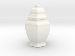 URNS_3mm_combined in Gloss White Porcelain