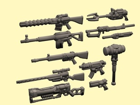 28mm Wastefall weapons 1 in Smoothest Fine Detail Plastic