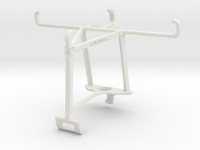 Controller mount for Xbox One S & Motorola Moto E3 in White Natural Versatile Plastic