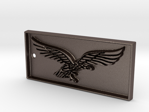 Pilot eagle airforce keychain in Polished Bronzed Silver Steel