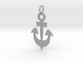 Anchor Symbol Pendant Charm in Aluminum