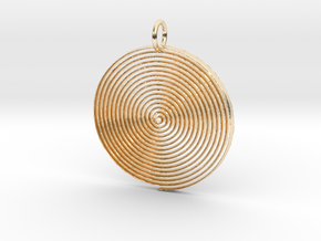 Minimalist Spiral Pendant in 14k Gold Plated Brass