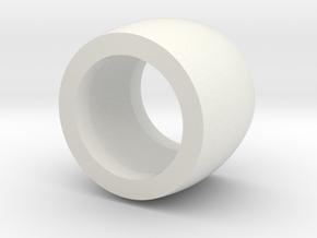 RA 800 Belt Idler Wheel HOLLOW in White Natural Versatile Plastic