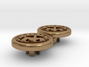 Dwemer spinner caps - Magnetic, Standard in Natural Brass