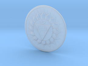 Throat Chakra or Vishuddha in Smooth Fine Detail Plastic