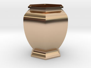 URN 0.8mm in 14k Rose Gold Plated Brass