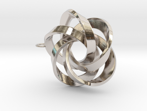Pentator Pendant with loop in Rhodium Plated Brass