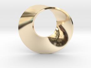 Moebius pendant in 14K Yellow Gold