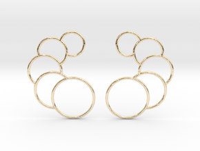 Eclipse Earrings in 14k Gold Plated Brass