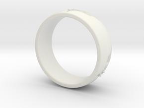 Batman Ring Size 6 in White Natural Versatile Plastic