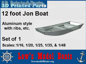 12 foot Jon Boat (aluminum style) in White Strong & Flexible: 1:16