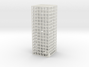 Maze 05, 3x3x8 in White Natural Versatile Plastic: Medium