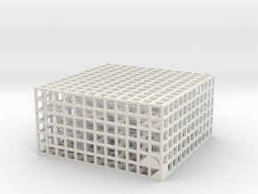 Maze 07, 6x6x3 in White Natural Versatile Plastic: Medium