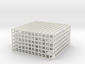 Maze 07, 6x6x3 in White Strong & Flexible: Medium