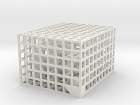 Maze 08, 5x4x3 in White Natural Versatile Plastic: Medium