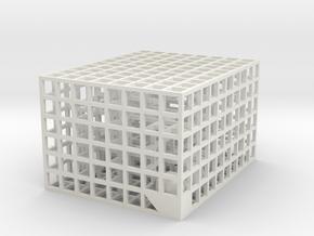 Maze 08, 5x4x3 in White Strong & Flexible: Medium