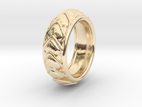 Dragon Scales Ring size 6 in 14K Yellow Gold