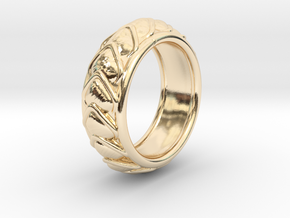 Dragon Scales Ring size 10 in 14K Yellow Gold