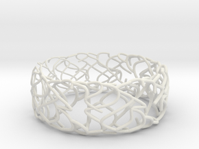 Sketch Bracelet in White Natural Versatile Plastic