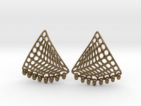 Baumann Earrings in Natural Bronze
