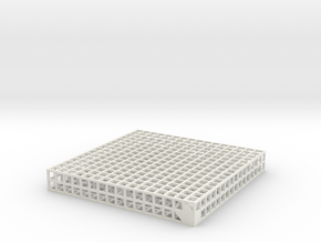 Maze 10, 8x8x1 in White Natural Versatile Plastic: Medium