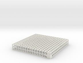 Maze 10, 8x8x1 in White Strong & Flexible: Medium