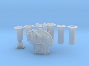 FR J1/E1/SPC - Chimneys & Backhead Completion in Smooth Fine Detail Plastic