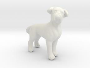 1/24 Pug Adult Dog  in White Natural Versatile Plastic