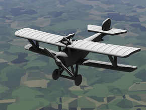 Nieuport 17 (Vickers+Lewis, various scales) in White Natural Versatile Plastic: 1:144