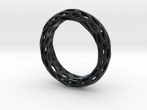 Trous Ring Sz 13 in Black Hi-Def Acrylate
