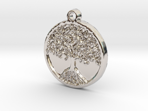 Tree of Life (Pendant) in Rhodium Plated Brass