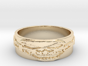 Skull Ring Size 8 in 14K Yellow Gold