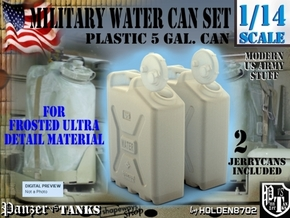 1-14 Military Water Can FUD SET1 in Smooth Fine Detail Plastic