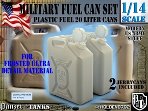 1-14 Military FUEL Can FUD SET1 in Smooth Fine Detail Plastic