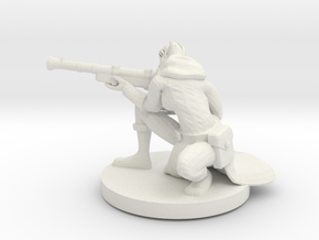 Elf Female Gunslinger / Sniper in White Natural Versatile Plastic