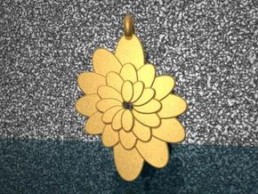 Spiral Flower 1 in Polished Gold Steel