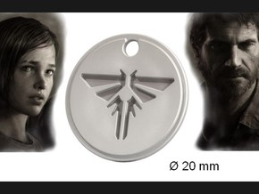 Firefly Pendant S (The Last of Us) in Polished Silver