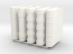 Book 5-Set in White Processed Versatile Plastic