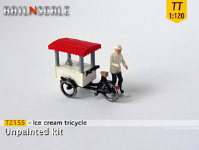 Ice cream tricycle (TT 1:120) in Smooth Fine Detail Plastic