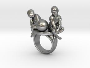 Melancholia ring in Raw Silver: 7.25 / 54.625