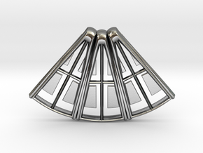 Hammershoi Pendant in Polished Silver