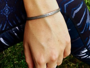 Shoot For The Moon Bracelet S-L in Polished Nickel Steel: Small