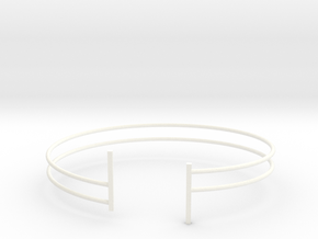 Bracelet in White Strong & Flexible Polished