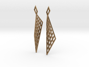 Mesh Earring Set in Natural Brass