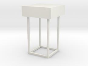 Main Mission Desk Type 3 S1 (Space:1999), 1/30 in White Natural Versatile Plastic