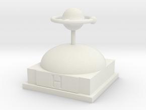 Hydrogen Atomamodel in White Natural Versatile Plastic